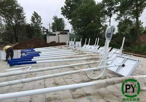 满城5米太阳能路灯组装