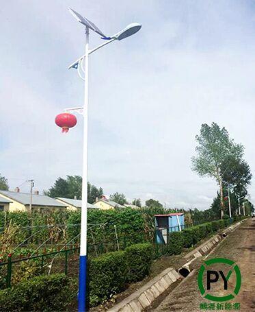 农村的太阳能路灯