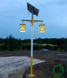 沧州公园太阳能庭院灯照明效果