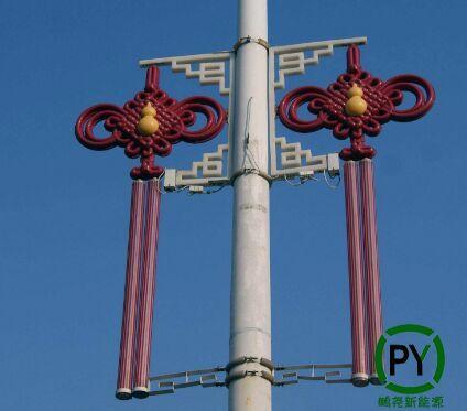 LED中国结怎么装到路灯杆上