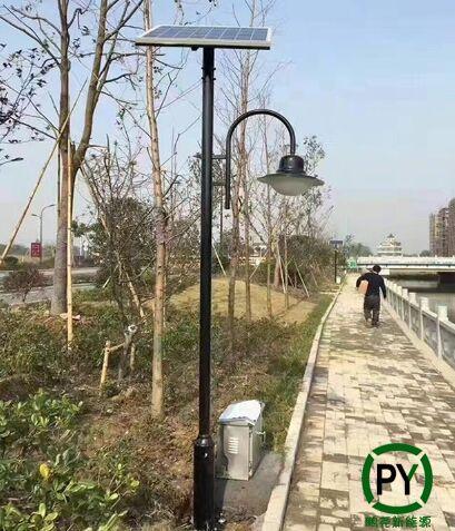 四川4米太阳能庭院灯施工完毕