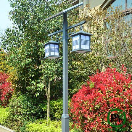 双灯头太阳能庭院灯