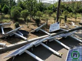 北京农村太阳能路灯6米安装现场