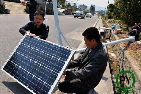 衡水农村太阳能路灯安装这些要注意