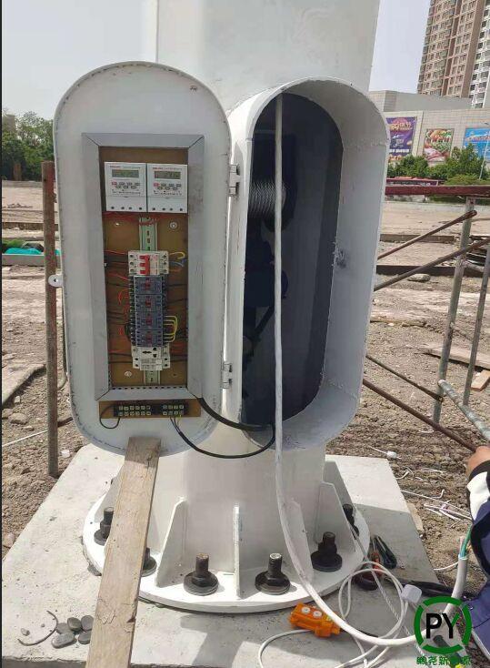 天津25米高杆灯接线